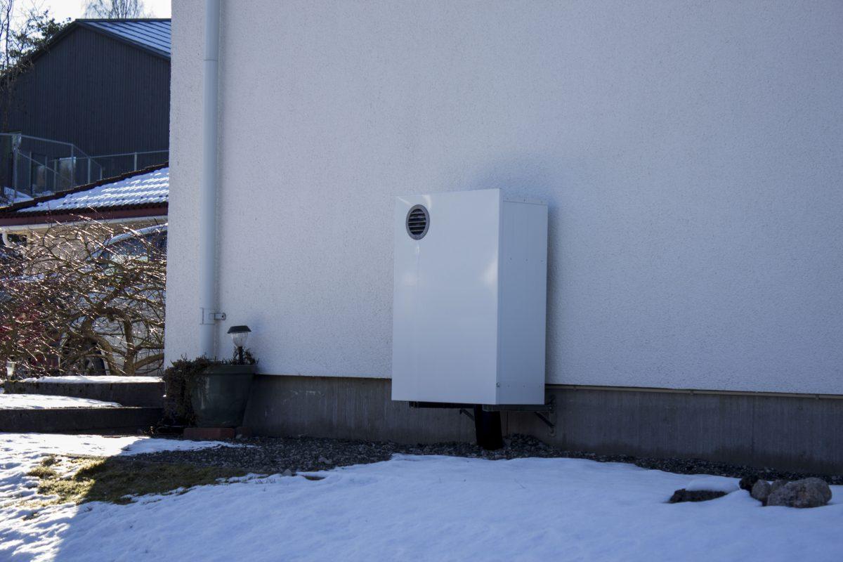 Et bilde av et ferdigmontert radonsug